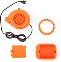 YEAHBEER Mini Fan Blower -for Inflatable Costume/Mascot Head/Other Inflatable Suits Orange