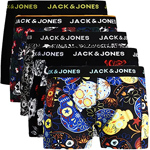 JACK & JONES Trunks 5er Pack Boxershorts Boxer Short Unterhose Mehrpack