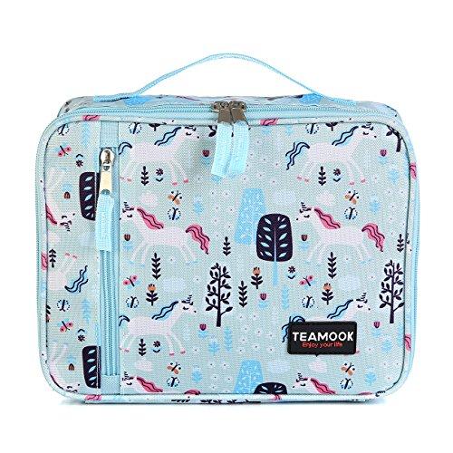 TEAMOOK Kühltasche Lunch Tasche Isoliertasche Lunchbox für Frauen Männer und Kinder 5L Modische Einhorn
