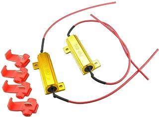 6 Ohm Wisfor Confezione da 4 resistori di carico per Auto da 50 W Fix Lampadina LED Hyper Flash Veloce indicatore di direzione Lampeggiante codice di Errore