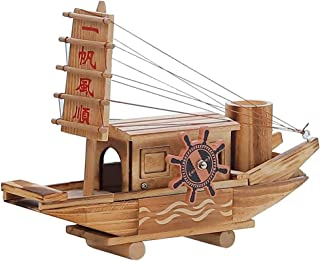 SXLLクリエイティブ工芸 工芸品の装飾品、セーリングオルゴールレトロ木造船モデル装飾品創造的な誕生日プレゼント時計仕掛けのオルゴール (色 : A, サイズ さいず : 27*19.5cm)