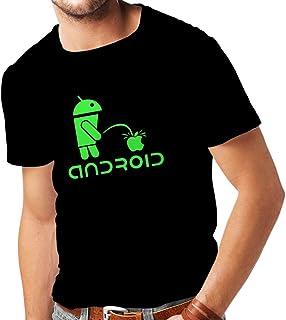 Camisetas Hombre el Divertido Robot y la Manzana - Citas