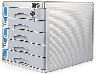 PQXOER Armoire de Classement Verrouillage Moderne Mobile Classeur 5 tiroirs en Alliage d'aluminium de Bureau Armoire de Ra...