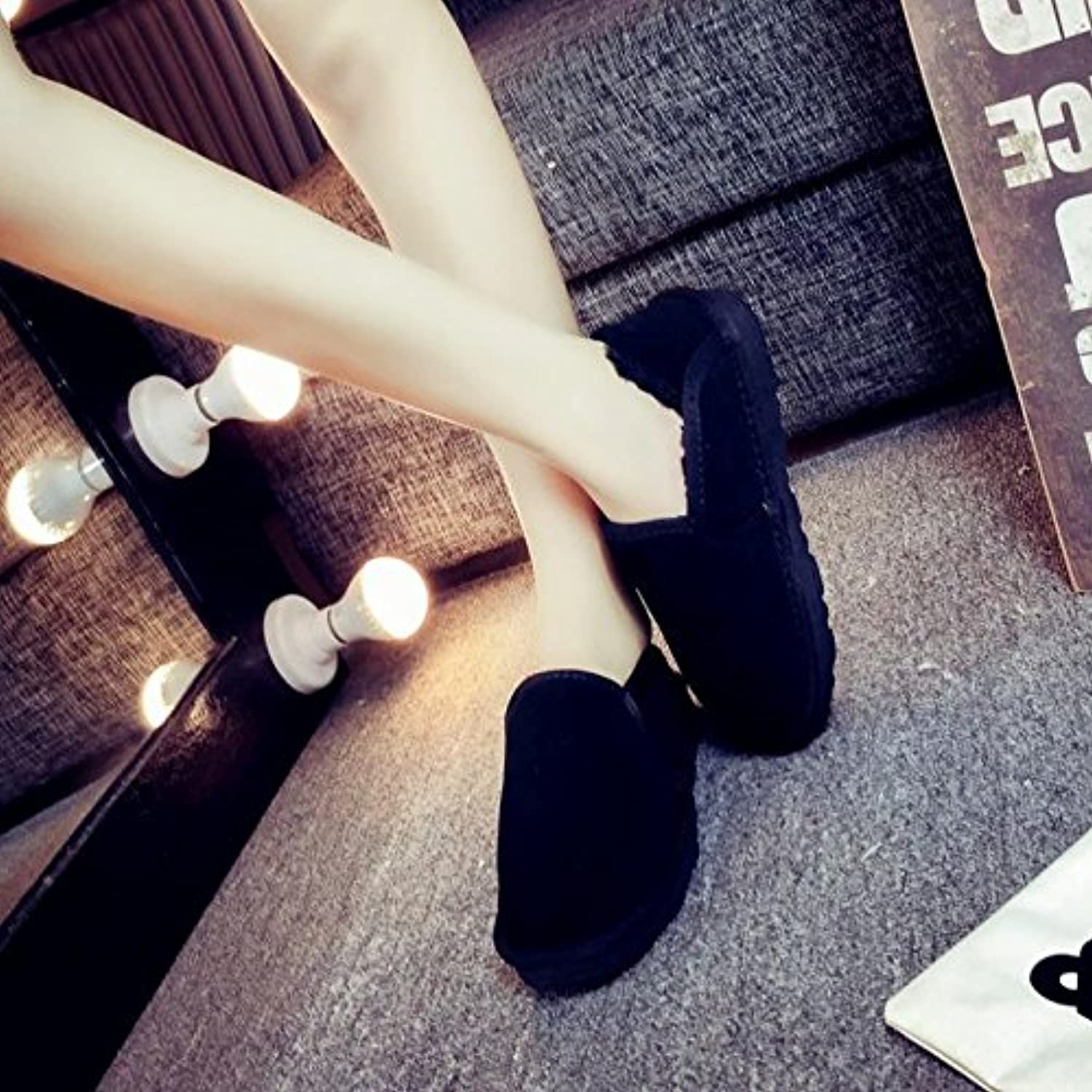 Couples warm cotton slip short block to help lazy bread shoes feet