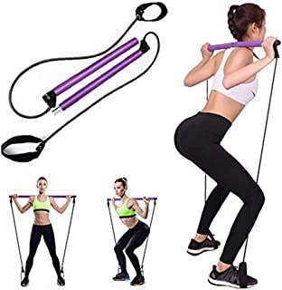 YOCAGO Pilates Stick Bar Kit Resistance Exercise Stretch Band for Yoga Pilates Fitness Muscle Training Body Workout Home G...