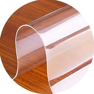 30x30cm//11.81x11.81in seveni Trasparente Tovaglia Sedia Mat 0.5MM Chair Mat for Hard Floor Desks Mats Tasteless Tappetino Rigido PVC Protezione della Copertura del Tavolo Impermeabile