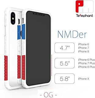 Dynamic Defender by Telephant Lab - NMDer - Anti-Shock AirSteel Medical Grade Silicone Case w/Dynamic Defense System (DDS) & Anti-G-Force Structure w/MIL-STD-810G (iPhone X)