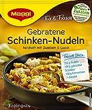 Maggi fix & frischgebratene Schinken-Nudeln,  14 x 26g Beutel, ergibt 3 Portionen pro Beutel