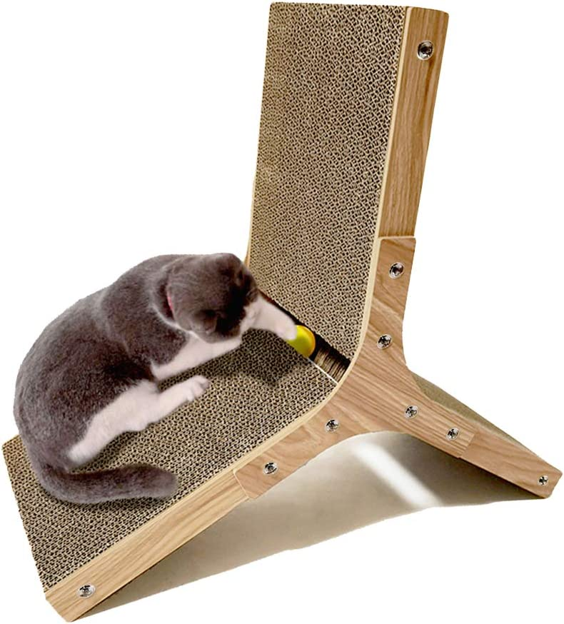 DDDW Cardboard Max 81% OFF Cat Scratcher All items in the store Corrugated Pad Three Scratching