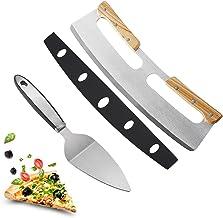 Bgfuni Pizzasnijder, pizzasnijder, roestvrij stalen snijmes met veilig houten handvat, multifunctionele keukengereedschaps...
