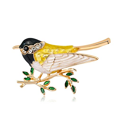 Clever Metallic Colored Gold Tone Parot Bird Brooch Pin Costume Vintage Online Discount
