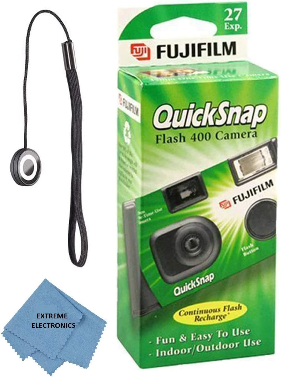 'Quicksnap Flash New arrival 400 Single-Use Flash' Over item handling with Camera