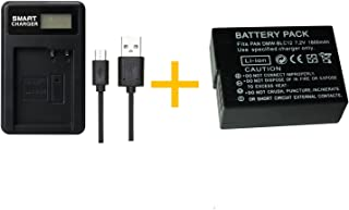 1 unids 1800 mAh DMW-BLC12 DMWBLC12 batería con Cargador de batería para Panasonic Lumix FZ1000 FZ200 FZ300 G5 G6 G7 GH2 DMC-GX8(1 pcs Battery with Charger)