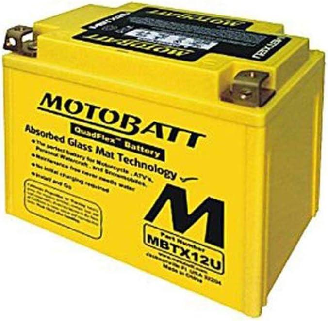 MotoBatt 12 Columbus Mall Volt 11 High quality Ah MBT12B4 Batte Maintenance Free AGM Sealed
