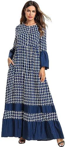 ASGHILL Robe Robe trapèze Volants à la Mode à Manches Longues et Grande Robe Ouverte d'allaiteHommest Robe Ample