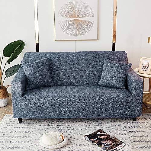 Fundas elásticas geométricas para sofá, Fundas elásticas para sofá para Sala de Estar, Funda para sofá, Silla, Funda para sofá, decoración del hogar, A16, 2 plazas