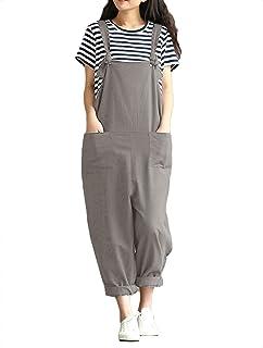ZANZEA Womens Vintage Straps Baggy Jumpsuit Playsuits Dungarees Harem Pants Plus