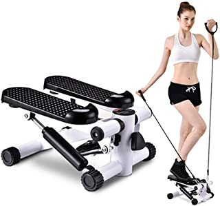 Mini Stepper Trainer Adjustable Height mClimbing Machine with Resistance Bands, LCD Monitor, Exercise Machine for Full-Bod...