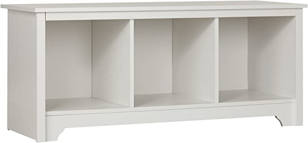 South Shore Entryway Cubby Storage Bench Pure White