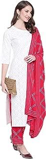 Khushal K Women's Cotton Printed Kurta With Palazzo Dupatta Set