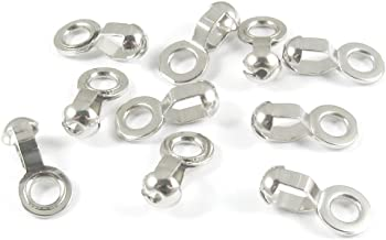 Ball Chain #6 Lamp/Fan Pull Loop Connectors-SILVER (10 pieces)