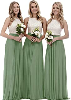 Best chiffon two piece bridesmaid dresses Reviews