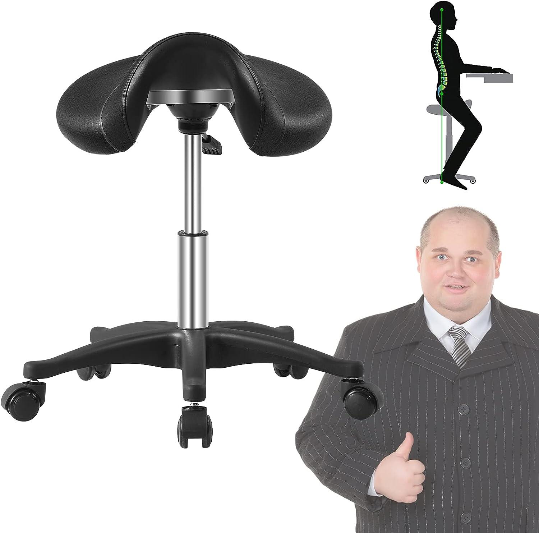 New item Saddle Stool with Wheels 500 lbs Heavy Weight Capacity Rol Kansas City Mall Duty