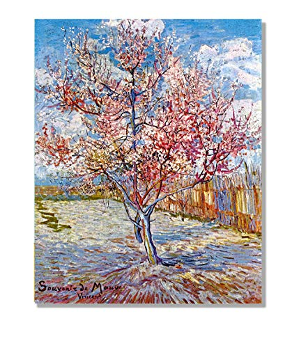 Eliteart- The Pink Peach Tree by Vincent Van Gogh Oil Painting Reproduction Giclee Wall