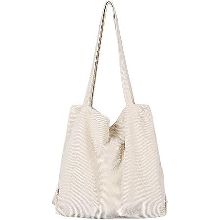 Etercycle Umhängetasche Damen Grosse Kapazität Cord Schultertasche Retro Handtasche für Alltag, Büro, Schulausflug und Einkauf - Beige