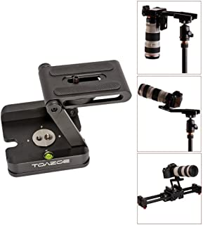 TOAZOE Z Type Foldable Desktop Stand Holder Tripod Flex Pan&Tilt with Ball Head Compatible Slide Rail Camera Camcorder Tripod with 1/4