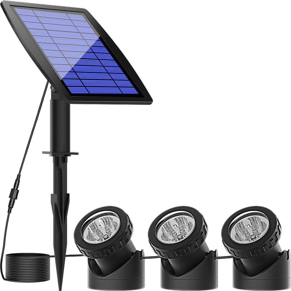 Solar Pond Spotlights Submersible Lights 3 LE 18 Lamps with Manufacturer OFFicial shop Branded goods
