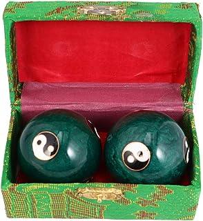 Healifty Hand Massage Bal Chinese Tai Chi Ying Yang Chimes Bal Handgewrichten Gezondheid Ballen voor Bloedcirculatie Spier...