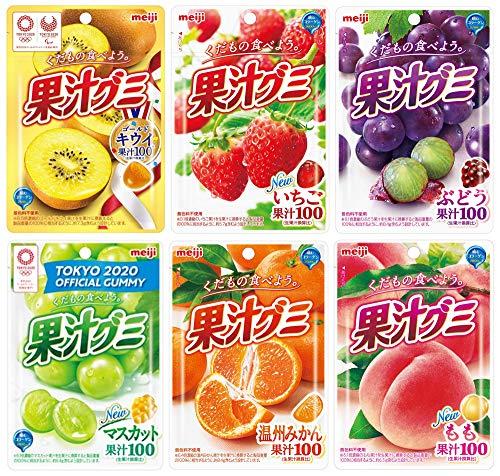 port townオリジナル 明治 果汁グミ アソートセット 6種各2個計12個(ゴールドキウイ・いちご・ぶどう・マスカット・温州みかん・もも)