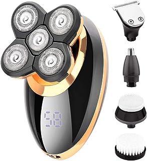 Afeitadora Eléctricas para Hombre, IPX5 Impermeable Máquina de ...
