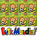 8 ZAUBERBLÖCKCHEN * FUSSBALLER FRTZ FLANKE * im Set mit je 24 Seiten in DIN A8 von Lutz Mauder // Mitgebsel Kindergeburtstag Malbuch Fussball