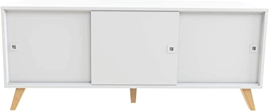 Marca Amazon -Movian Enol - Aparador, 149 x 40 x 61.8cm (largo x ancho x alto), blanco