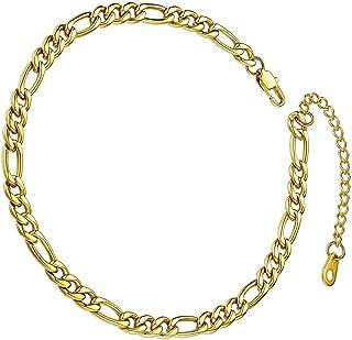 Cavigliera impermeabile in acciaio inox con catena da 5 mm, regalo per San Valentino compleanno