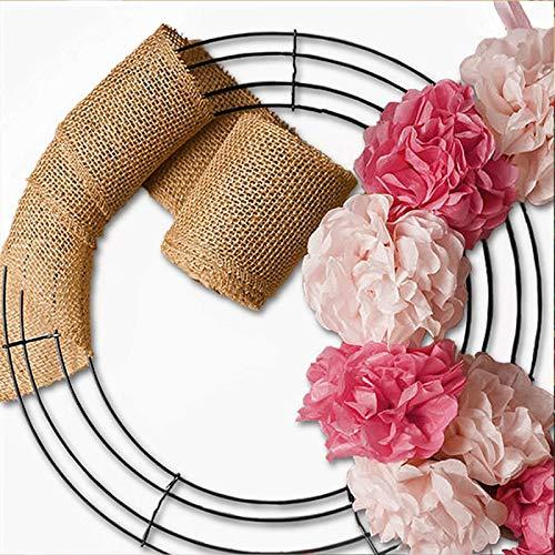 somubi Metal Circle Hoop DIY Party Wedding Decor Reusable Engagement Geometric Handmade Strong and Durable Ring