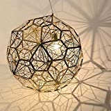 LED de luz empotrado en el techo (25cm, 30cm, 40cm, 50cm) Bola de diamantes de acero inoxidable Lámpara de araña de restaurante de malla creativa Publicar Sala de estar minimalista moderna Lámpara de