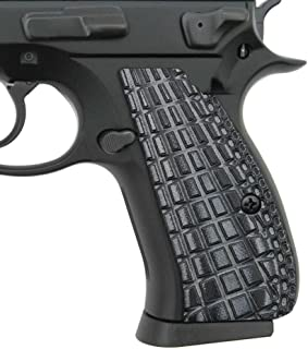 Cool Hand G10 Grips Compatible with CZ 75/85 Compact, Screws Included, Grenade Texture
