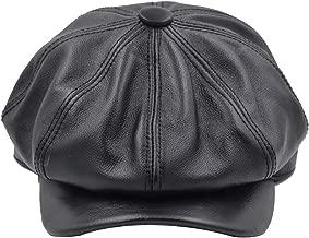 Yosang Fashion Men's Leather Classic 8 Panel Gatsby Newsboy IVY Hat