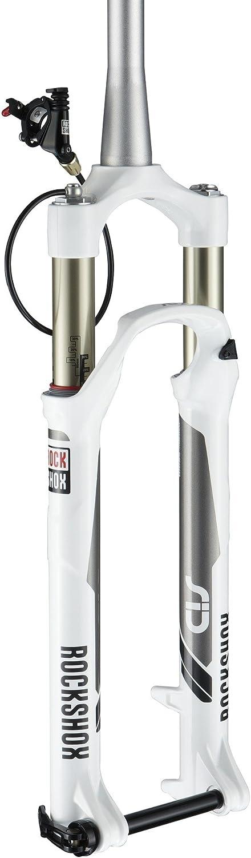 RockShox SID XX Solo Air 100  mm, 9 mm QR, 11 8, 29  Inch, XLoc Remote Right (White)