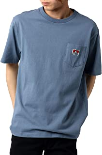 [ベンデイビス] Tシャツ メンズ 父の日 ギフト 半袖 カットソー ポケット (L:(身丈71cm 肩幅48cm 身幅54cm 袖丈23.5cm), ブルーグレイ)