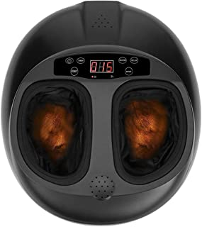 Foot Massager Shiatsu Kneading Foot Massager Massage Machine with Heat for Home Black