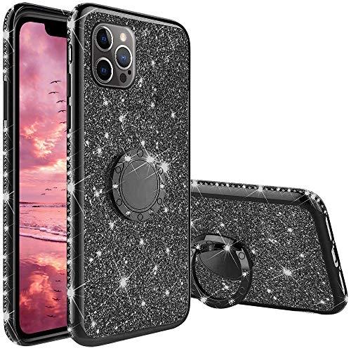 Funda para iPhone 12 Pro MAX 6.7', Glitter Brillante Diamante con 360 Grado...