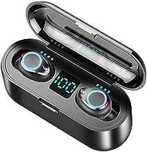 Andoer BT 5.0 Fone de ouvido sem fio Fone de ouvido estéreo 8D Fone de ouvido esportivo Mini fone de ouvido com microfone ...