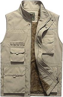Lentta Men's Lightweight Outdoor Warm Fleece Lined Fishing Travel Outwear Vest Jacket