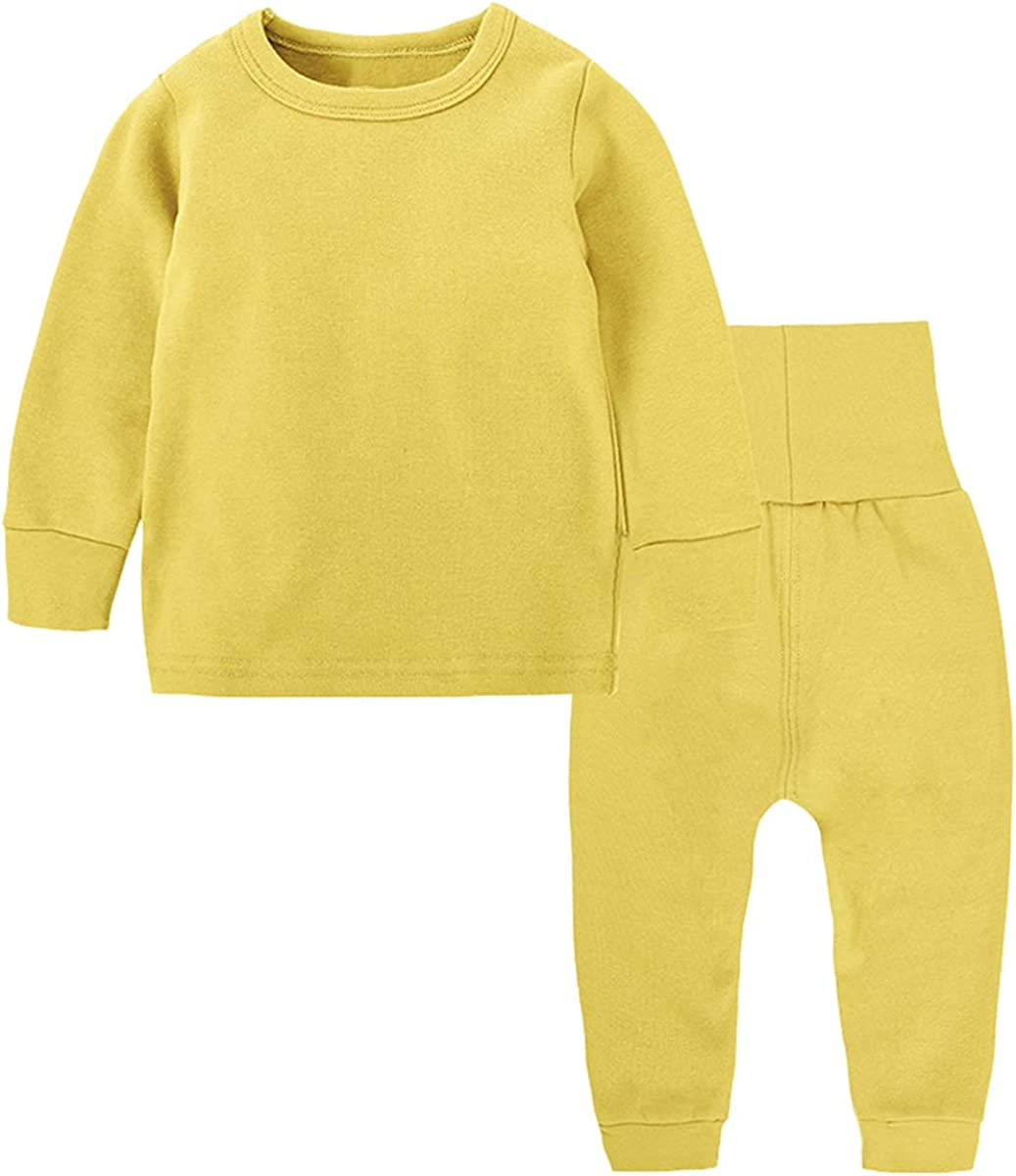 Toddler Boy's Thermal Underwear Set Base Layer Top & Bottom Set, Yellow, 4-5T = Tag 130