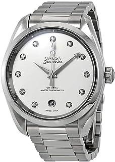 Omega - Seamaster Aqua Terra Reloj automático de señoras con esfera plateada de diamante 220.10.38.20.52.001