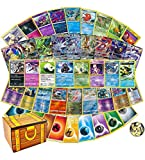 100 Assorted Cards: Features 1 GX, Rares, Holos, and 45 Bonus Energy Cards - All Cards are Authentic - Includes Golden Groundhog 50 Cards Capacity Deck Box!